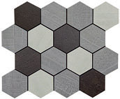 Apavisa Outdoor policromatico natural mosaico hexagonal 26x30 (G-1756)